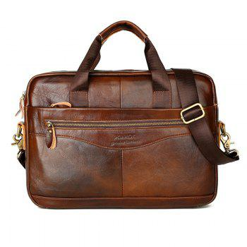 FONMOR Genuine Leather Briefcases Men Handbag Cowhide Business laptop bag