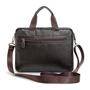 FONMOR Genuine Leather Men Totes Bag Casual Business Men's Handbags Cross body Bags Briefcase -  BROWN