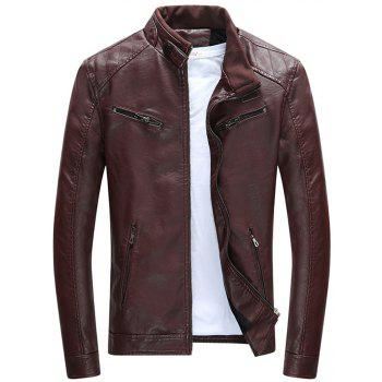 Men S Winter Jacket Motorcycle Leather Jacket Thermal Coat