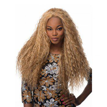 60cm Long Wavy Curly Natural Black / Golden Blonde Cosplay Synthetic Hair Wig - GOLD GOLD