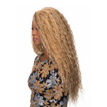 60cm Long Wavy Curly Natural Black / Golden Blonde Cosplay Synthetic Hair Wig - GOLD