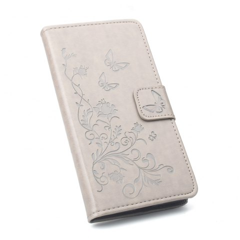 Phone Case for Xiaomi Redmi Note 4X Phone Wallet Leather Case Mobile Phone Holster - GRAY