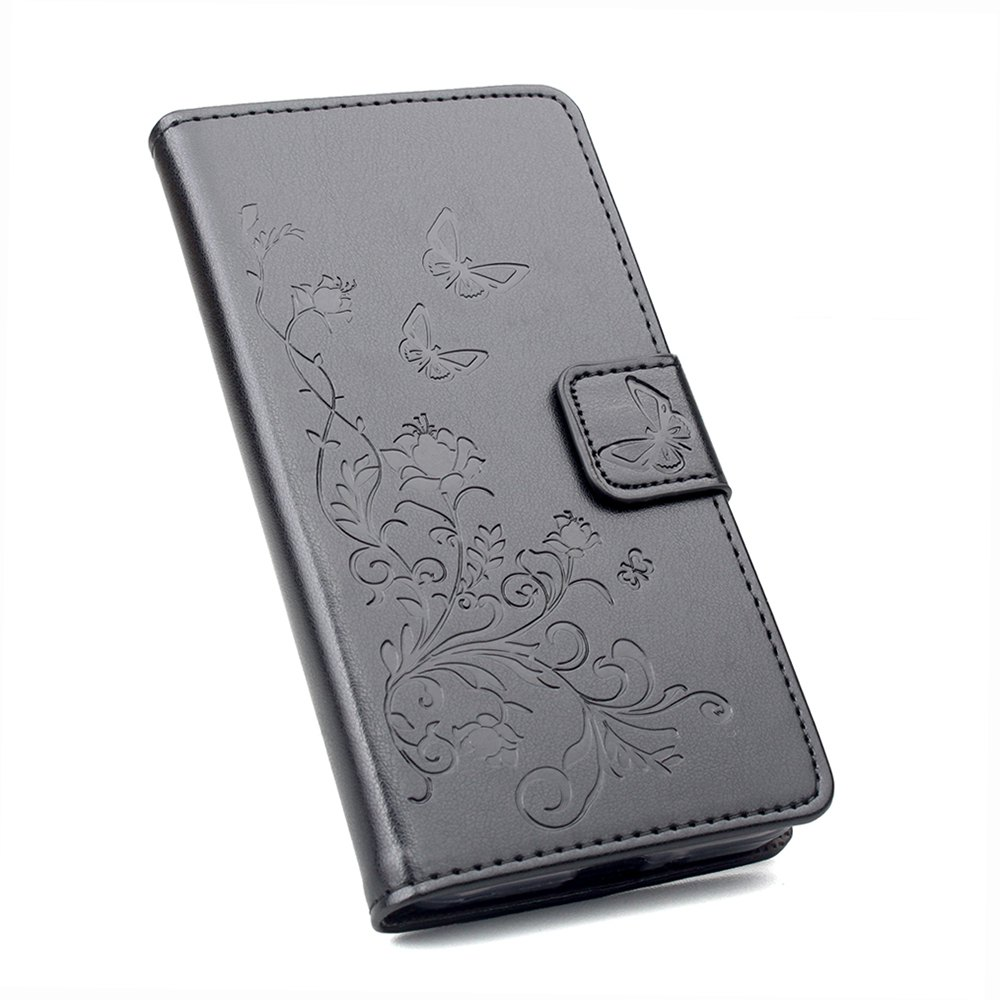 Phone Case for Xiaomi Redmi Note 4X Phone Wallet Leather Case Mobile Phone Holster - BLACK