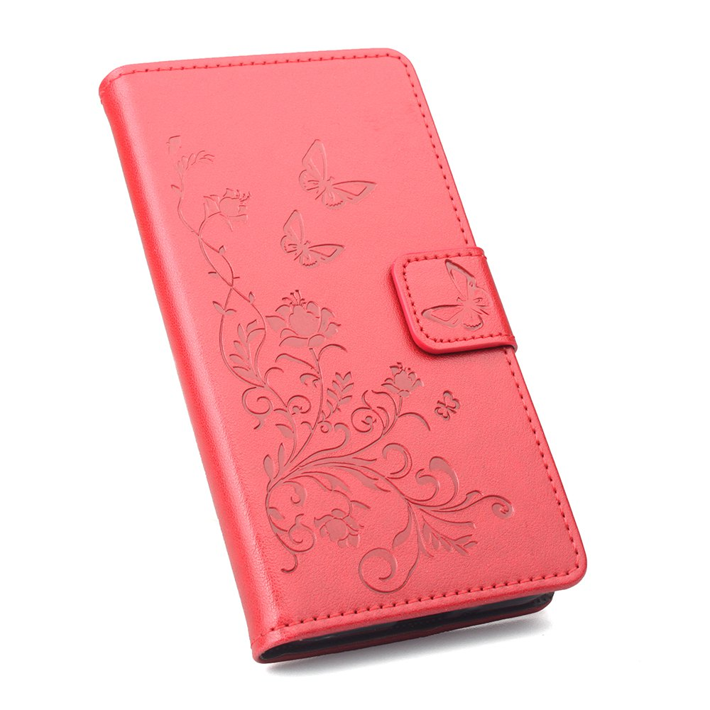 Phone Case for Xiaomi Redmi Note 4X Phone Wallet Leather Case Mobile Phone Holster - RED