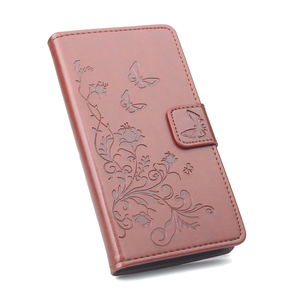 Phone Case for Xiaomi Redmi Note 4X Phone Wallet Leather Case Mobile Phone Holster - BROWN