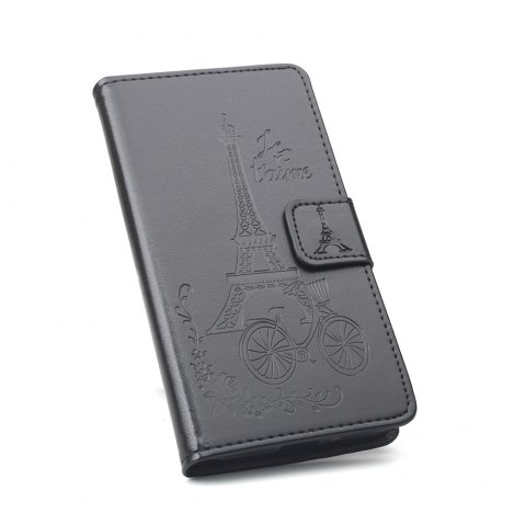 Flip Case for Xiaomi Redmi Note 4X Wallet PU Leather Case - BLACK