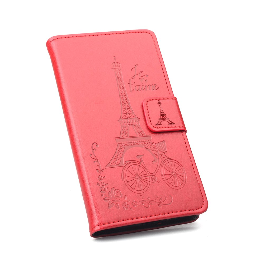 Flip Case for Xiaomi Redmi Note 4X Wallet PU Leather Case - RED