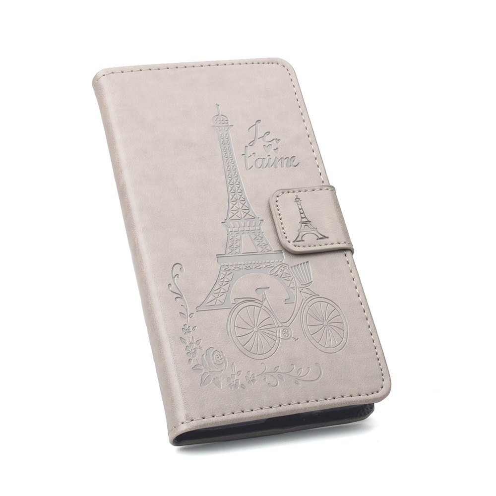 Flip Case for Xiaomi Redmi Note 4X Wallet PU Leather Case - GRAY