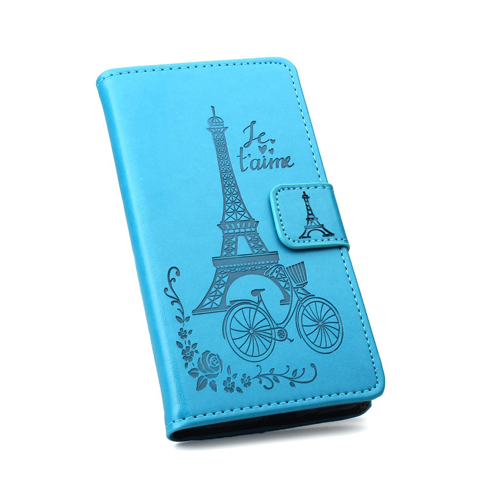 Flip Case for Xiaomi Redmi Note 4X Wallet PU Leather Case - BLUE