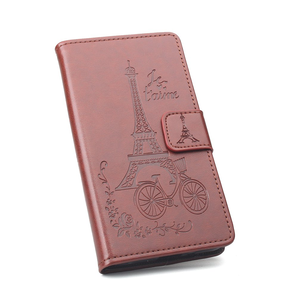 Flip Case for Xiaomi Redmi Note 4X Wallet PU Leather Case - BROWN