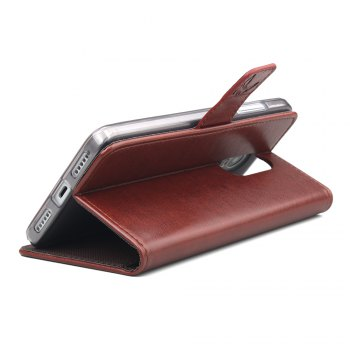 Wallet Case for Xiaomi Redmi Note 4X Wallet Type Mobile Phone Leather Case - BROWN
