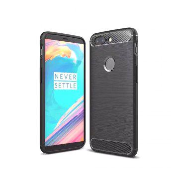 Carbon Fiber Drawing Case for OnePlus 5T - BLACK