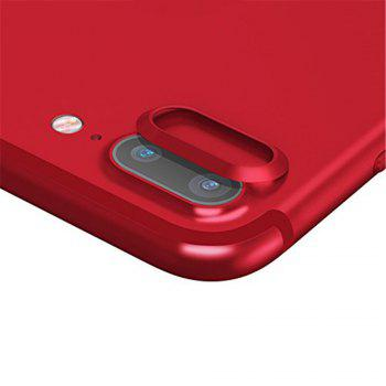 Anti-dust Dust Plug Set Camera Lens Protective Case Cover with Home Button Sticker for iPhone 8 Plus  / 7 Plus - RED