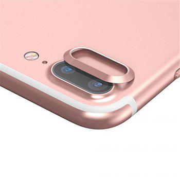 Anti-dust Dust Plug Set Camera Lens Protective Case Cover with Home Button Sticker for iPhone 8 Plus  / 7 Plus - ROSE GOLD