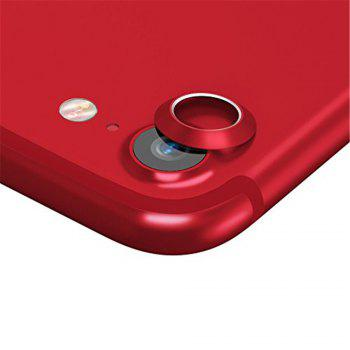 Anti-dust Dust Plug Set Camera Lens Protective Case Cover with Home Button Sticker for iPhone 8  / 7 - RED