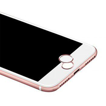 Anti-dust Dust Plug Set Camera Lens Protective Case Cover with Home Button Sticker for iPhone 8  / 7 - ROSE GOLD