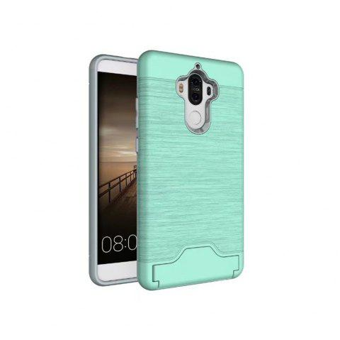 2 in 1 Hybrid Wire Drawing Armor PC +TPU Case With Stand Card Holder for HUAWEI Mate 9 - GREEN