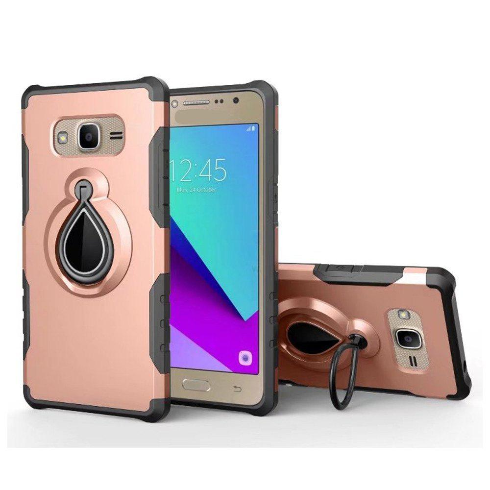 Mobile Cell Phone Stand Holder Car Mount Ring Grip 360 Rotatable Zinc Alloy Finger Holder for Samsung Galaxy J2 Prine - ROSE GOLD