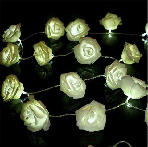 16.4FT New Christmas Day Decoration Supplies LED Lights Rose String Light - WARM WHITE