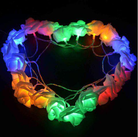 16.4FT New Christmas Day Decoration Supplies LED Lights Rose String Light - COLORFUL