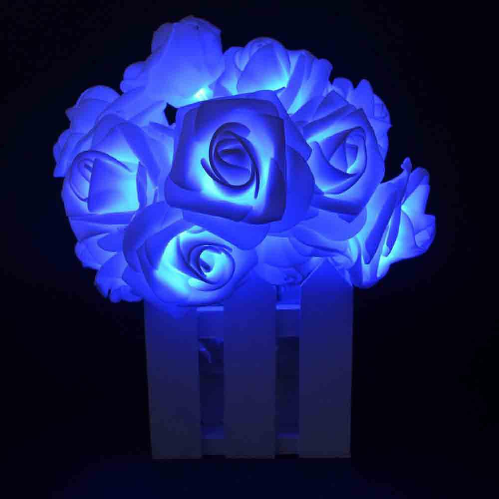 16.4FT New Christmas Day Decoration Supplies LED Lights Rose String Light - BLUE
