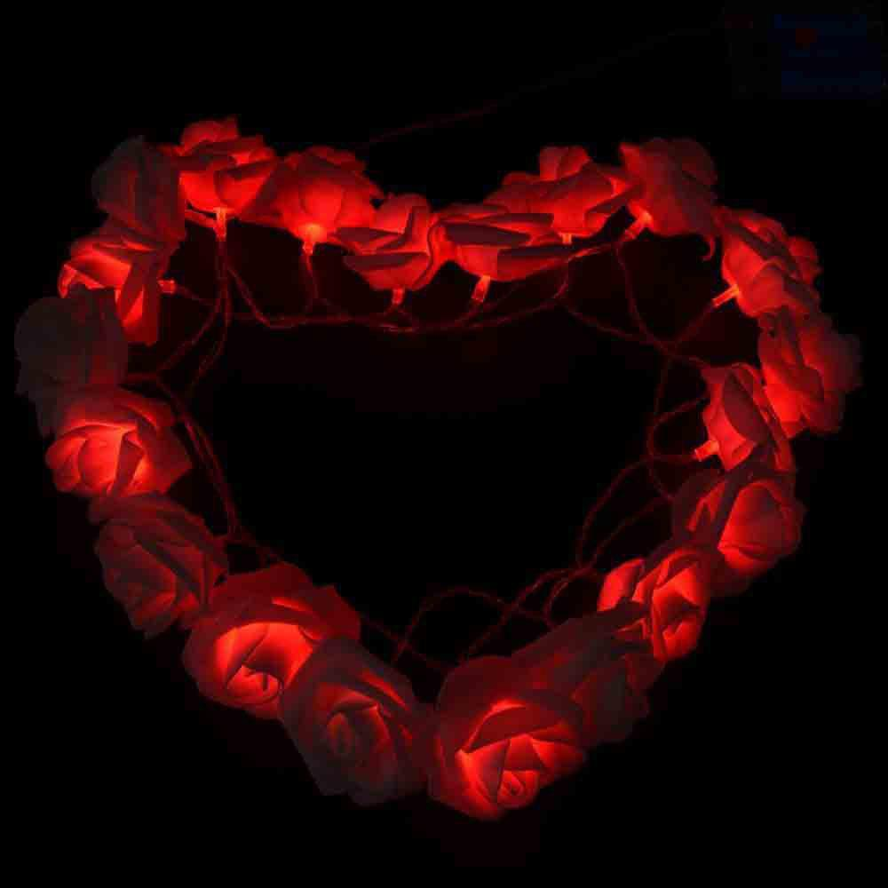 16.4FT New Christmas Day Decoration Supplies LED Lights Rose String Light - RED