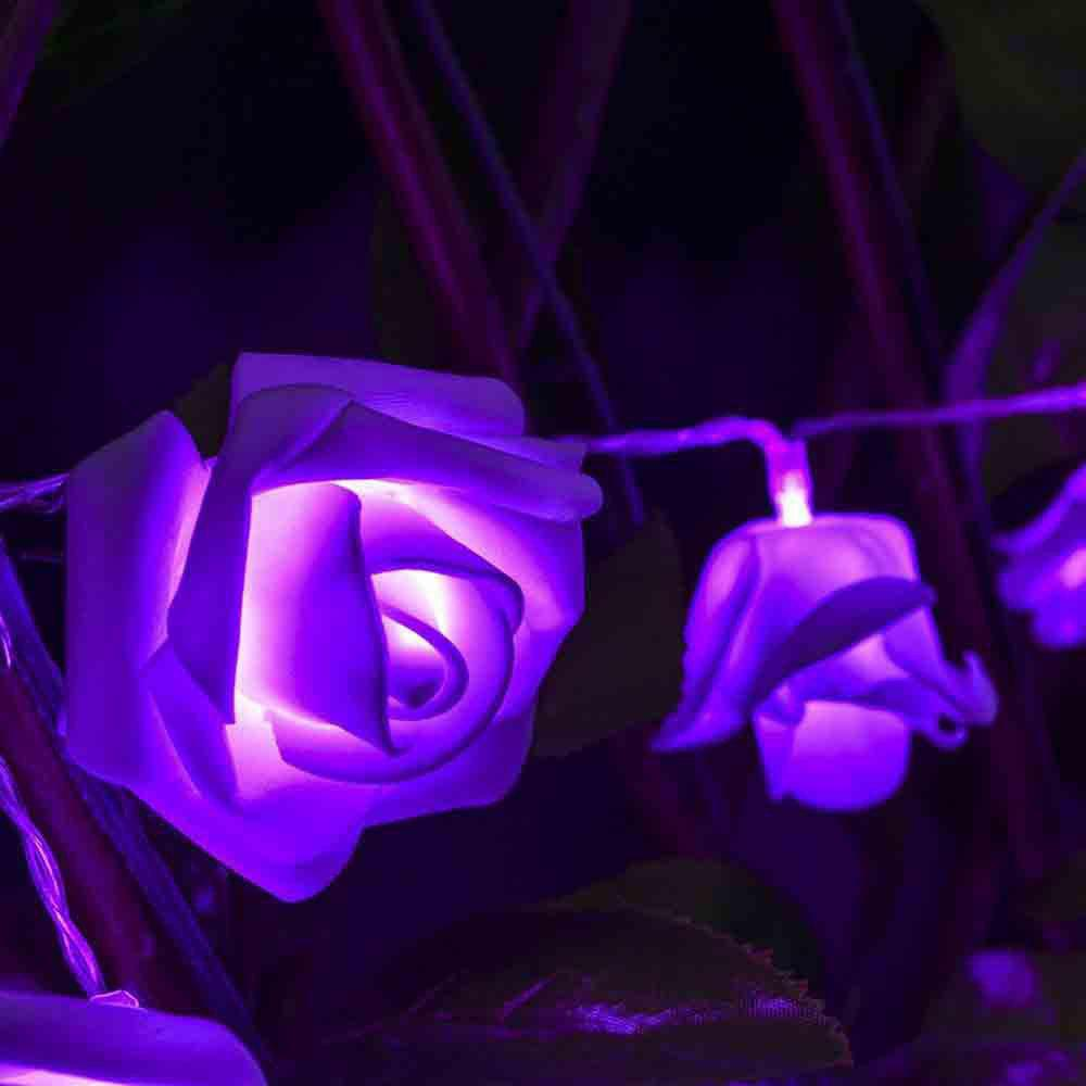 16.4FT New Christmas Day Decoration Supplies LED Lights Rose String Light - PURPLE