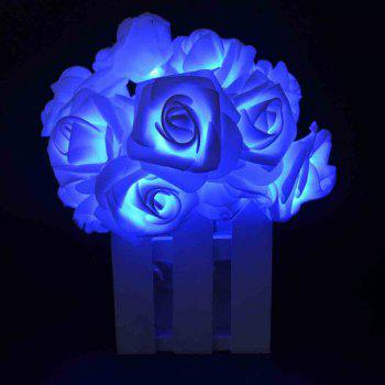 33FT New Christmas Day Decoration Supplies LED Lights Rose String Light - BLUE BLUE