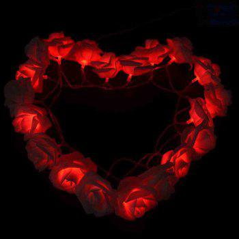33FT New Christmas Day Decoration Supplies LED Lights Rose String Light -  RED