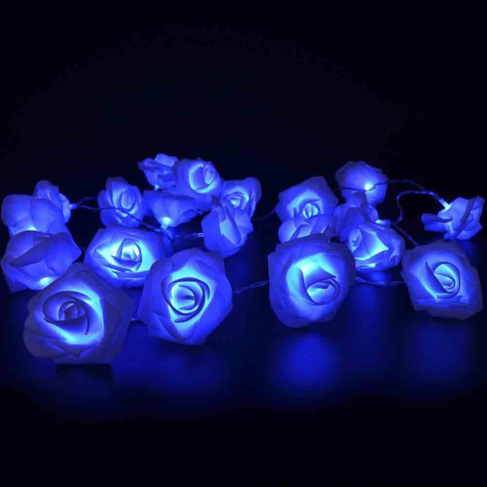 33FT New Christmas Day Decoration Supplies LED Lights Rose String Light - BLUE