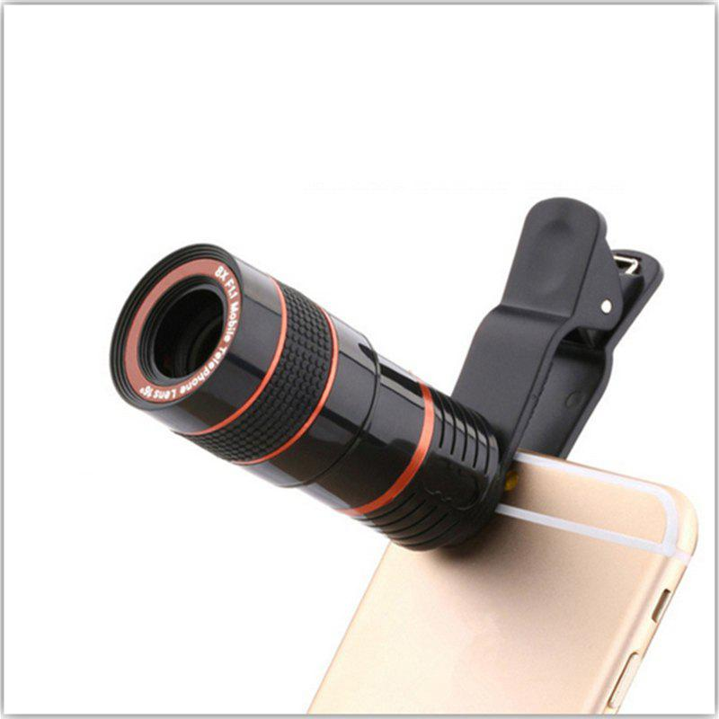 Universal 8X Optical Zoom Telescope Camera Lens Clip Mobile Phone Telescope 12x zoom camera lens telescope for htc one m7 silver black