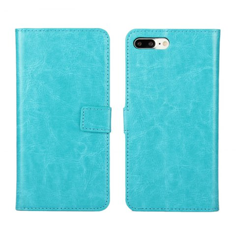 Pure Color Mad Horse Grain PU Leather Case for iPhone 7 Plus / 8 Plus - GREEN