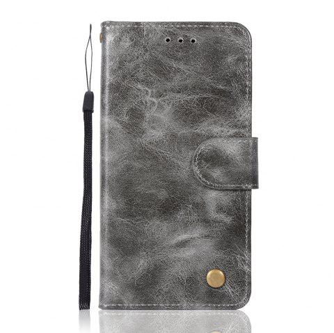 Upscale Vintage Pattern Flip PU Leather Wallet Case for LG G6 - GRAY