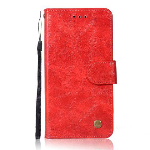 Upscale Retro Pattern Flip PU Leather Wallet Case for LG G6 - RED