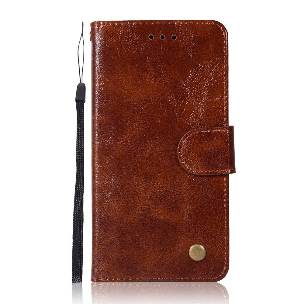 Upscale Retro Pattern Flip PU Leather Wallet Case for LG G6 - BROWN