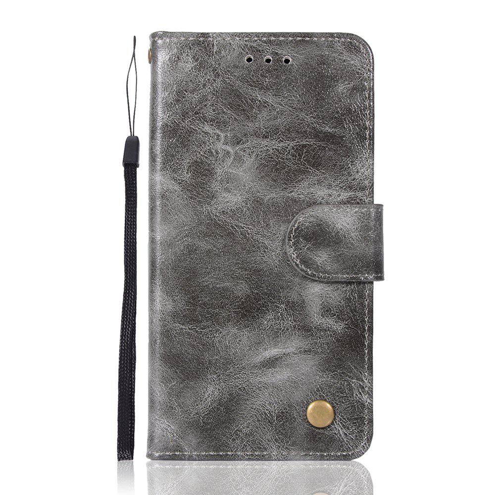 Upscale Retro Pattern Flip PU Leather Wallet Case for LG G6 - GRAY