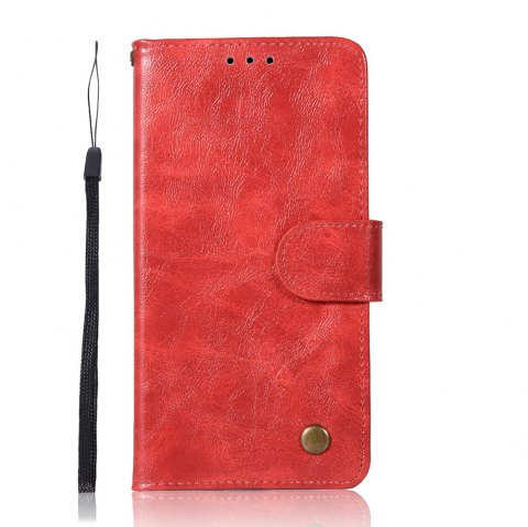 Upscale Retro Pattern Flip PU Leather Wallet Case for Moto G5 - RED