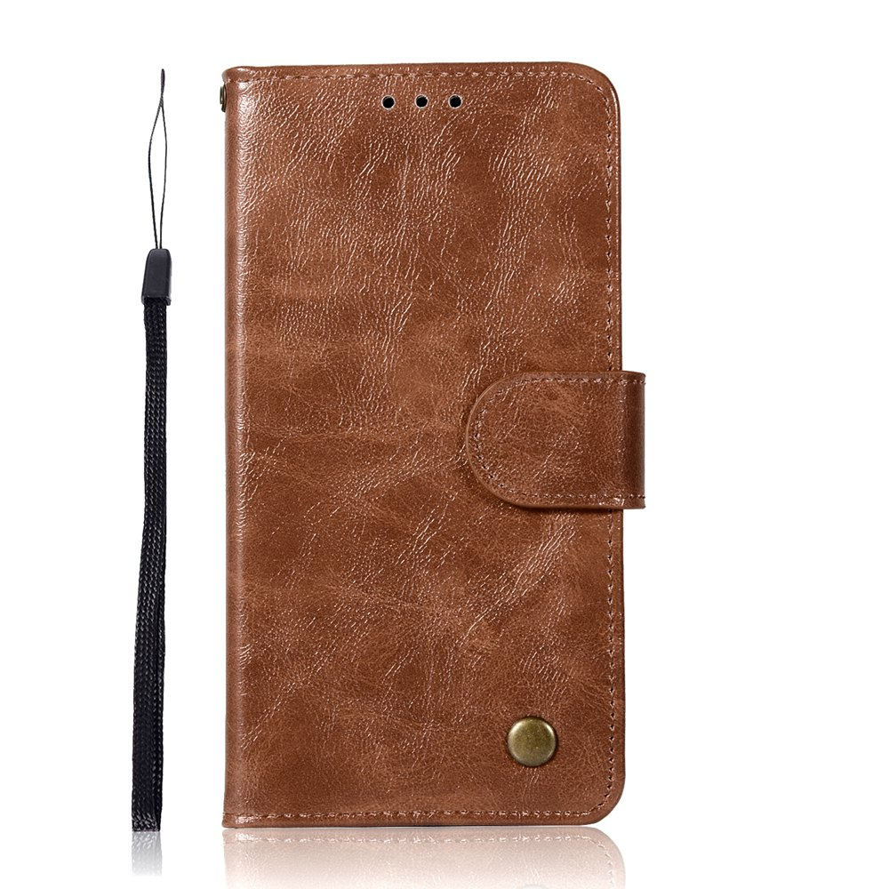 Upscale Retro Pattern Flip PU Leather Wallet Case for Moto G5 - BROWN