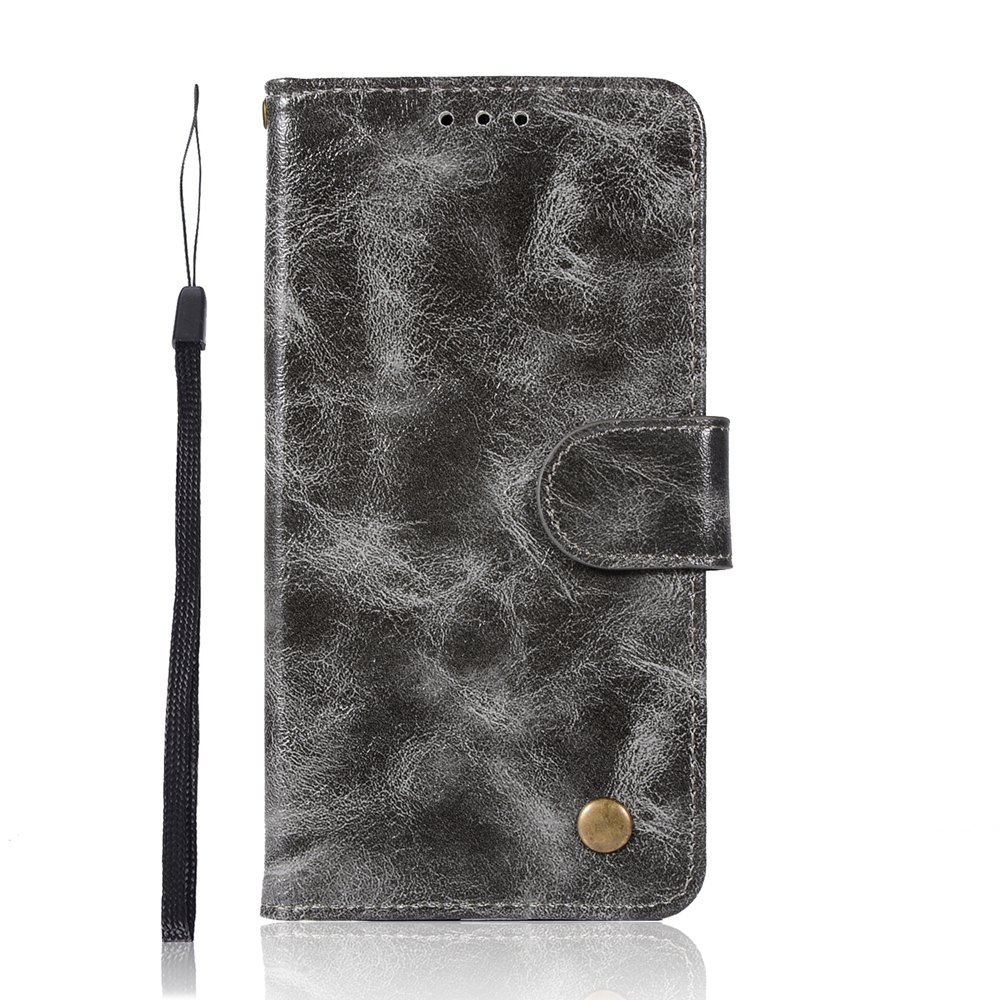 Upscale Retro Pattern Flip PU Leather Wallet Case for Moto G5 - GRAY