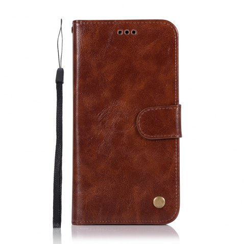 Upscale Retro Pattern Flip PU Leather Wallet Case for Moto Z2 Play - BROWN