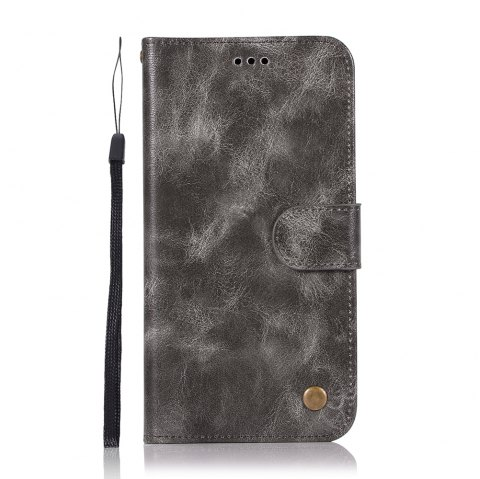 Upscale Retro Pattern Flip PU Leather Wallet Case for Moto Z2 Play - GRAY