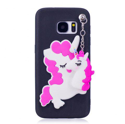 3D Cute Candy Pendant Pattern Silicone Soft Tpu Back Case for Samsung Galaxy S7 - BLACK