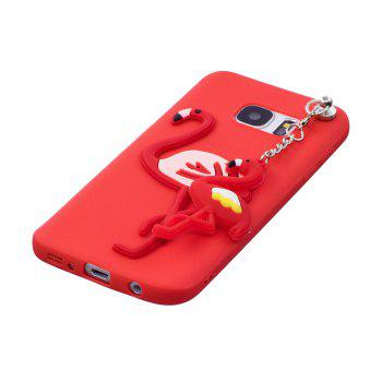 3D Cute Candy Pendant Pattern Silicone Soft Tpu Back Case for Samsung Galaxy S7 - RED