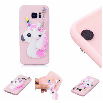 3D Cute Candy Pendant Pattern Silicone Soft Tpu Back Case for Samsung Galaxy S7 - PINK