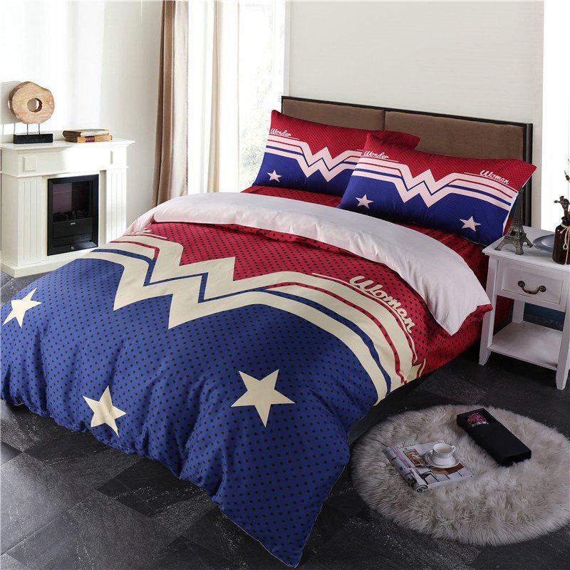 Three-Dimensional Digital Printing and Stereoscopic Star Pattern Four Sets of Bedding Suits - OTHER KING