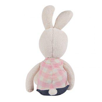 30 CM Grid Cloth Rabbit Plush Toy Doll -  WHITE