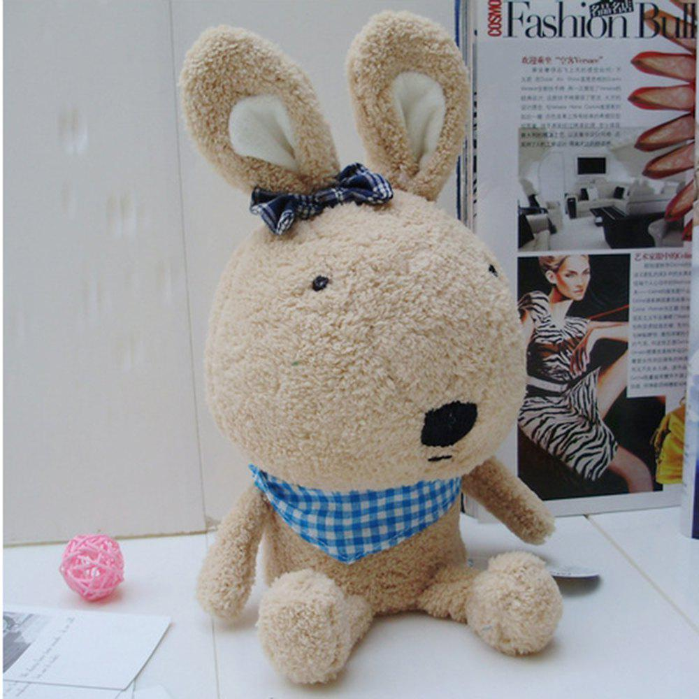 30CM Sundries Box Stuffed Rabbit Toys Doll - BROWN