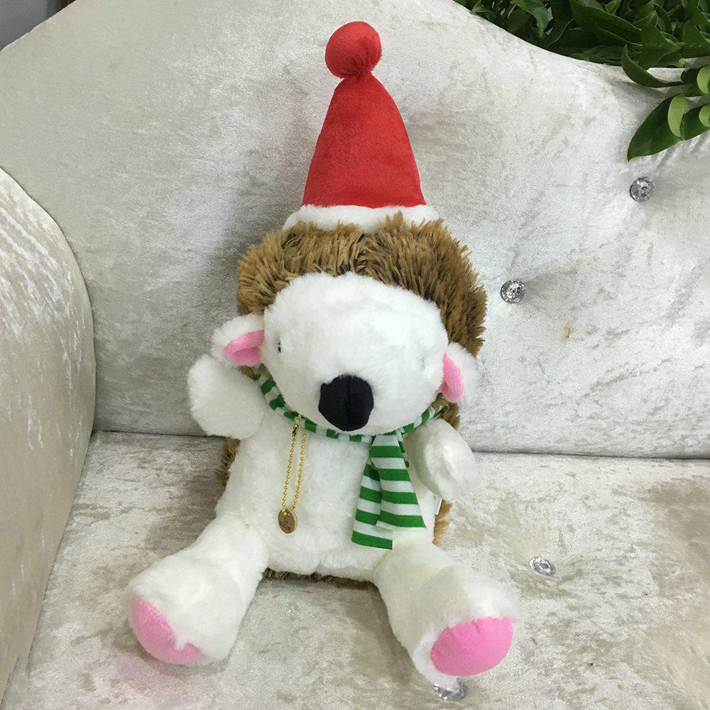 20CM Christmas Gift Hedgehog Doll Plush Toy - GREEN