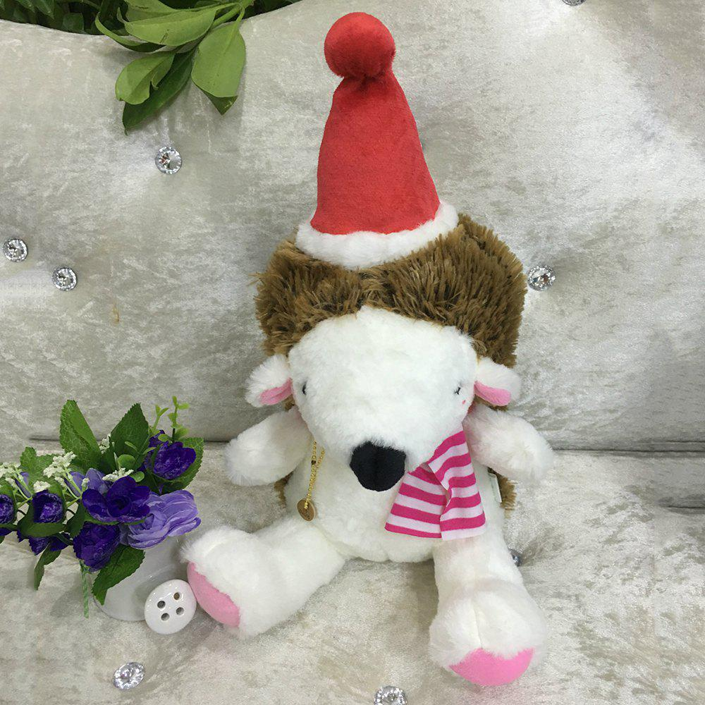 20CM Christmas Gift Hedgehog Doll Plush Toy - RED
