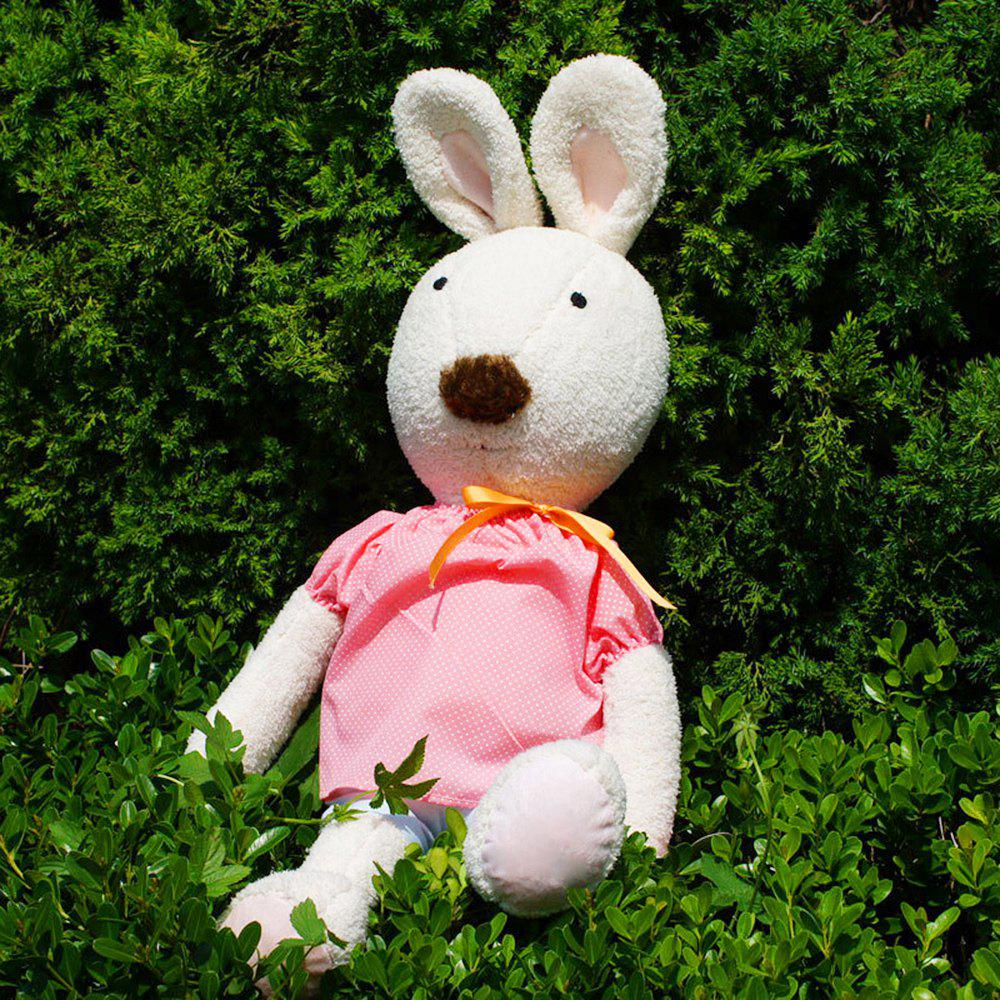 30CM Water Jade Bow Tied Plush Rabbit Toy Doll - WHITE